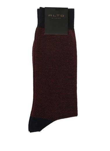 Alto Socks Çorap Bordo
